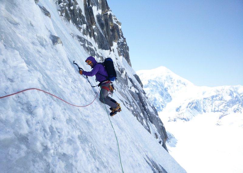 Rock Climbing Photo: J.D. Merritt traverses on some terrain between the...