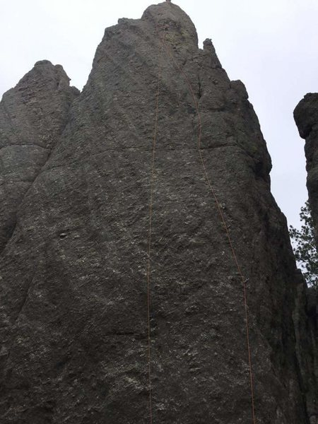 Rock Climbing Photo: Rote follows the rope