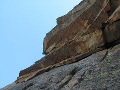Rock Climbing Photo: slightly zoomed in view of the tiered roofs traver...