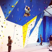 Rock Climbing Photo: Lead climbing on the steep prow feature at Climb U...