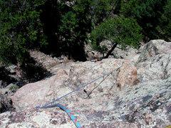 Rock Climbing Photo: George on P1.