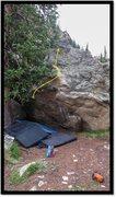 Rock Climbing Photo: Inflammation Station problem beta.