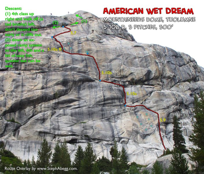 Route Overlay American Wet Dream
