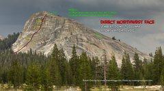 Rock Climbing Photo: Route Overlay DNW Face