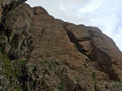Rock Climbing Photo: Wisdom (5.9 crack in the left corner) and Book of ...