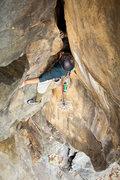 Rock Climbing Photo: Nick S. onsighting Ocean Overhang.