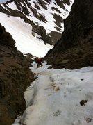 Rock Climbing Photo: Dan cruising sweet ice soon after branching off of...