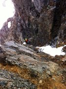 Rock Climbing Photo: Dan about to embark on his journey through choss n...
