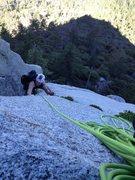 Rock Climbing Photo: Z in the last corner before Jungle ledge