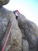 Rock Climbing Photo: Embrace the heel-toe.