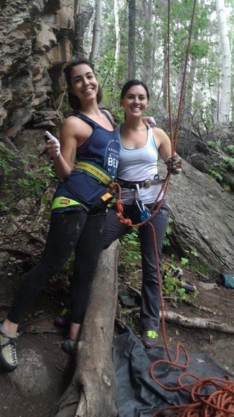 Rock Climbing Photo: Before my first climb...