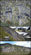 Rock Climbing Photo: Route overlay, mosaic inset photos and location on...