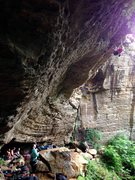 Rock Climbing Photo: Bob Marley wall at PMRP in Red River Gorge