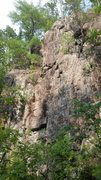 Rock Climbing Photo: The tall portion of Lower C Section. Clouds follow...