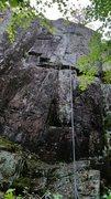 Rock Climbing Photo: Follow the three slightly leaning seams