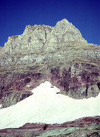 Rock Climbing Photo: East Face of Mt Clements - Glacier National Park