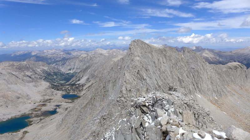 summit of Mt Abbot looking toward Mills