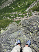 Rock Climbing Photo: View after the first pitch. We had about 50 m of r...