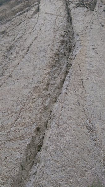 Rock Climbing Photo: Climb the groove to the right of SAT.