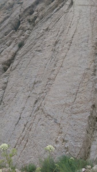 The route up the clean slab.