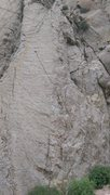 Rock Climbing Photo: Old English climbs the blunt arete. You can place ...
