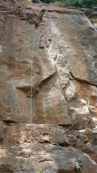 Rock Climbing Photo: Draws hanging on route