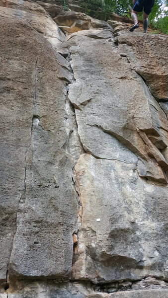 Rock Climbing Photo: marked with a metal tag