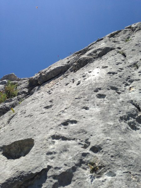 Second pitch of Der Letzte Mohikaner (left side of the photo) and Direkter Mohikaner (right side).
