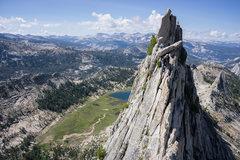 Rock Climbing Photo: Pablo on fun part of a ridge