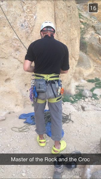 Rock Climbing Photo: This is me.