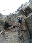 Rock Climbing Photo: diana on the first portion of  La Cucharita /Gener...
