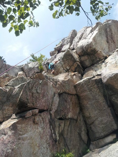 james on the crux!