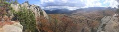 Rock Climbing Photo: Pano of Owls Head in October