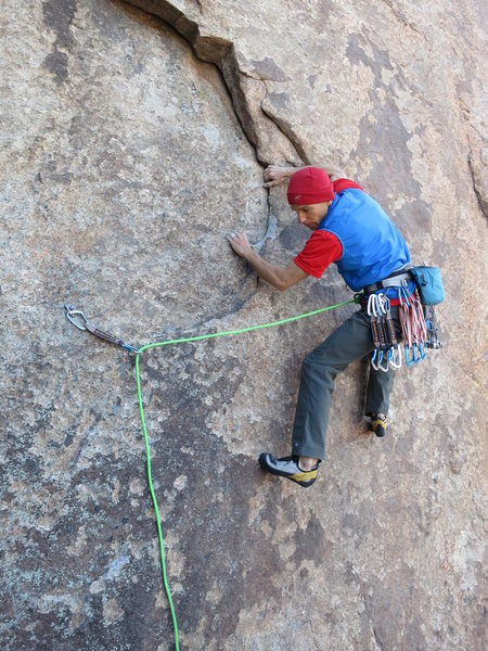 Rock Climbing Photo: Getting started on the Schmausser Traverse. This s...