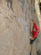 Rock Climbing Photo: Starting up on the first free ascent of Game of Dr...