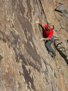 Rock Climbing Photo: The cruiser climbing and rest before the crux on T...
