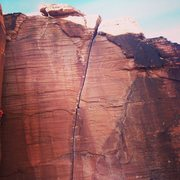 Rock Climbing Photo: Atman. Michal can be seen soloing the corner chimn...