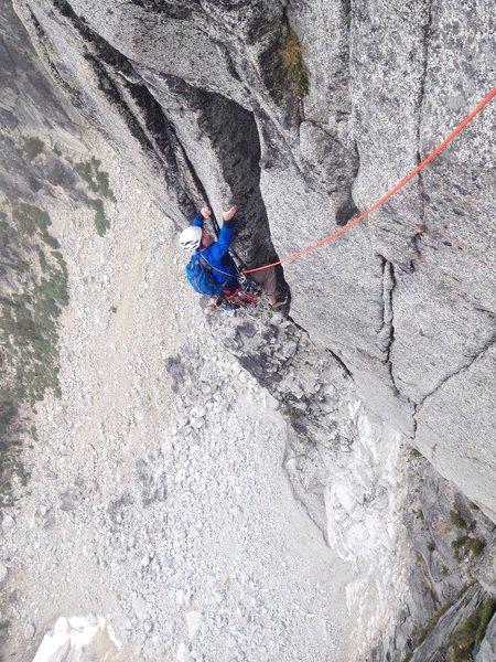 Rock Climbing Photo: Ryan Palo styling one of the stellar 5.11 pitches!