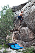 Rock Climbing Photo: Warming up.