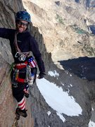 "Rock Climbing Photo: Richard Shore leading the ""unlikely traverse&..."