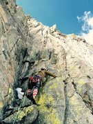 Rock Climbing Photo: Mark Collar leading our final simul-block to the s...