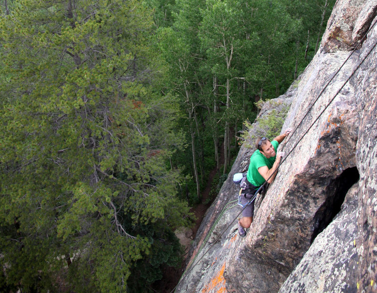 Quest for Magic crux arete is crimpy with delicate, balanced moves!