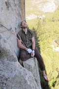 "Rock Climbing Photo: Success after leading ""Catchy"" 5.10d, Yo..."