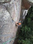 Rock Climbing Photo: The top finger crack section of Alien Umbrella