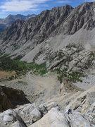 Rock Climbing Photo: looking back down toward the Paiute Pass trail