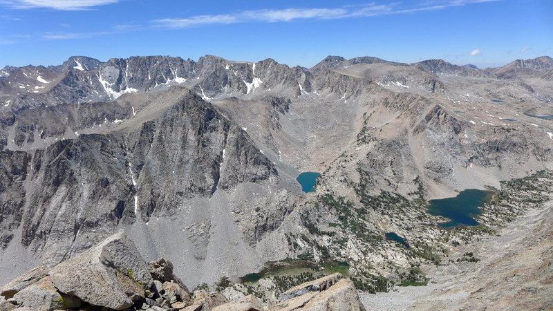 the many lakes along Paiute Pass trail as it heads toward the pass