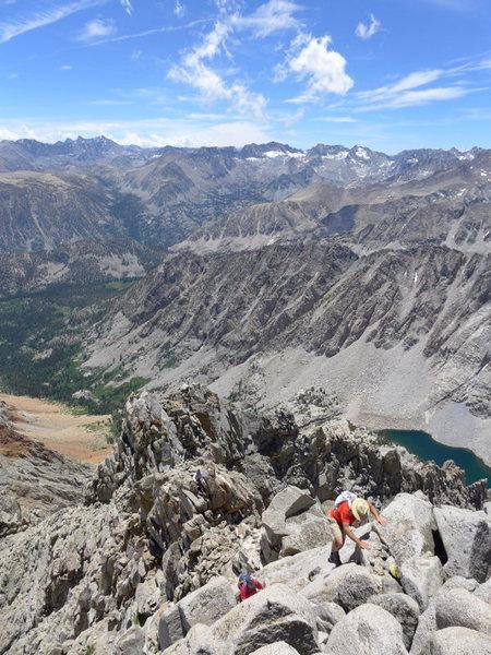 Rock Climbing Photo: ridge traverse section