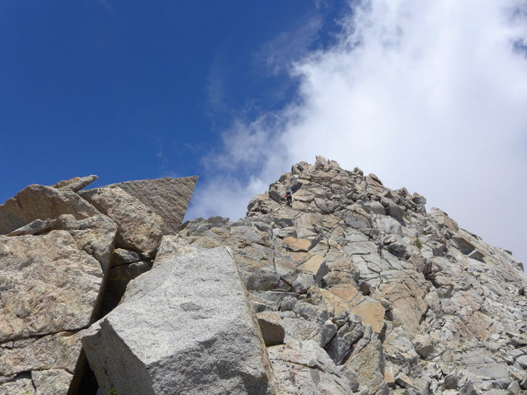 Rock Climbing Photo: final push to the summit