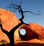 Rock Climbing Photo: Ear of the Wind arch.  Benjamin Mackall Photograph...