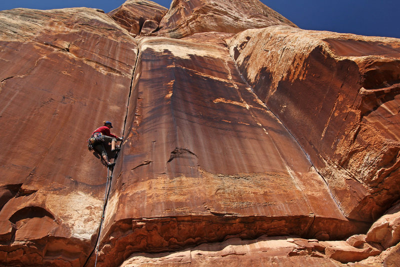 Rock Climbing Photo: Patrick O'Connell on the climb